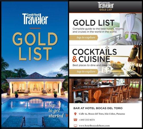 Hotel Bocas del Toro: Conde Nast Gold List