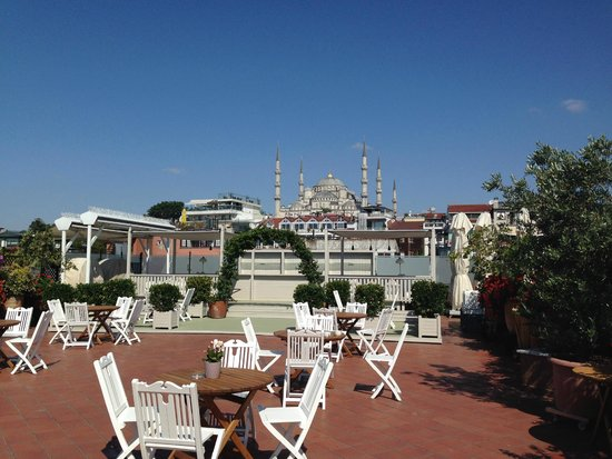 Armada Istanbul Old City Hotel: view from rooftop of the Blue Mosque