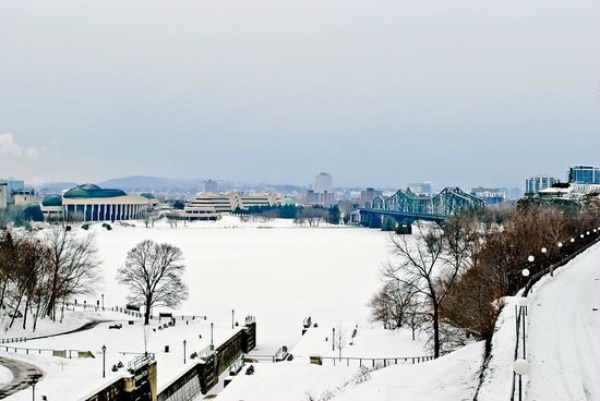 Rideau Canal: Frozen canal and the Ottawa River