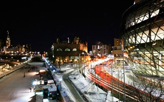 Rideau Canal: Winter evening