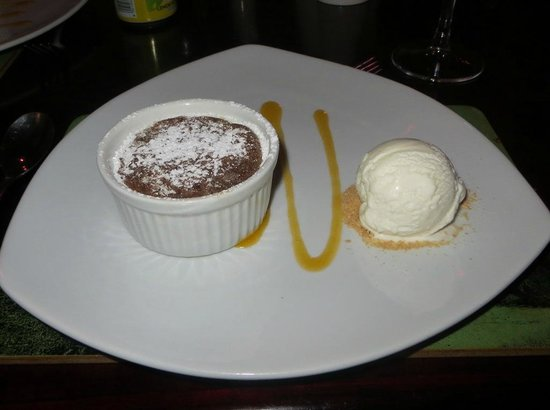 Indaba Hotel: Molten Chocolate lava dessert