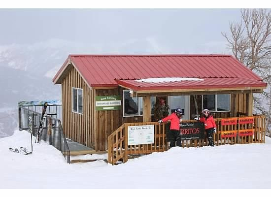 Shoshone Condominium at Big Sky Resort: Adorable burrito shack up on the slopes
