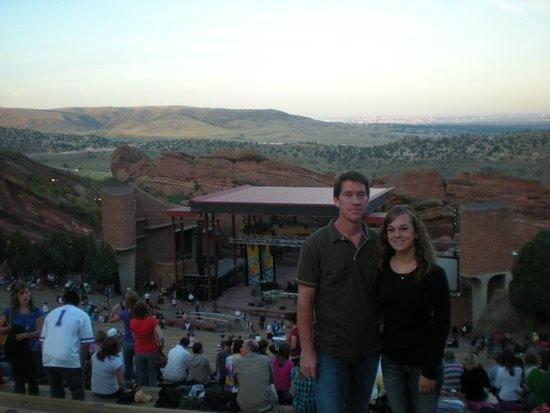 Red Rocks Park and Amphitheatre: Courtney and Myself looking down towards the stage