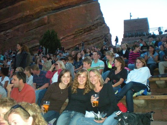 Red Rocks Park and Amphitheatre: Jessie, Courtney, and Kelly at Jason Mraz Concert.