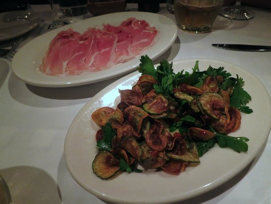 Maialino: Prosciutto de Parma and Flash Fried & Marinated Summer Squash