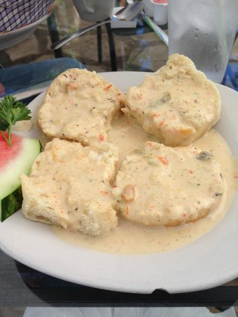 Tina's Cafe: Biscuits with Green Chili Sauce