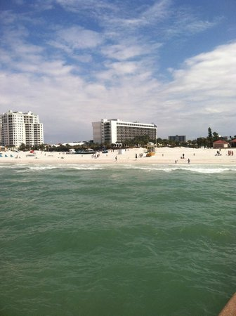 Clearwater Beach: That's the hilton in the middle, taken from pier 60