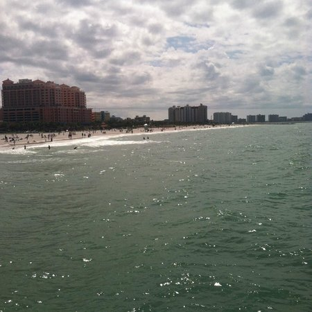 Clearwater Beach: Looking down the other side from the pier