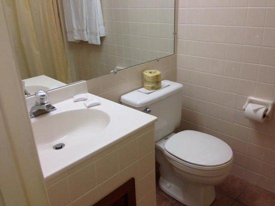 Island Motor Inn Resort : clean bathroom with fluffy towels