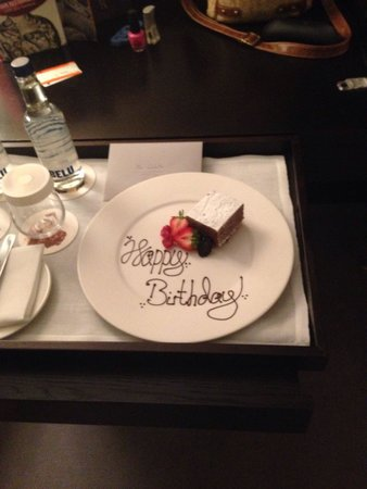 South Place Hotel: Staff left in our room for wife's birthday