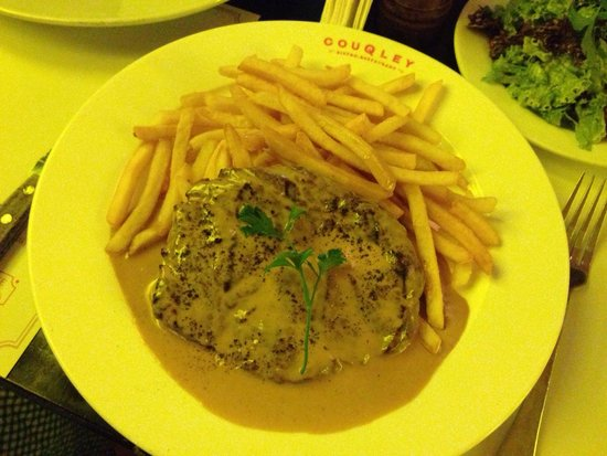 Couqley: Not to be missed steak frites