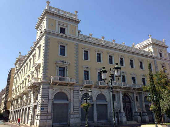Kotzia Square: Melas building. It was the headquarters of the Greek post service today is an expansion of the n