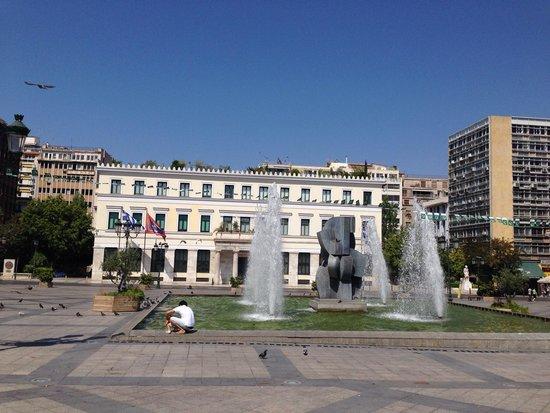 The fountain of the Kotzia square.