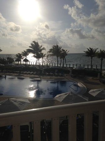Ocean Maya Royale: View from our room, complimentary updgrade