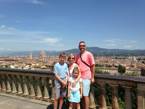 Rome Driving Tours : Our Family Picture, overlooking Florence, Italy