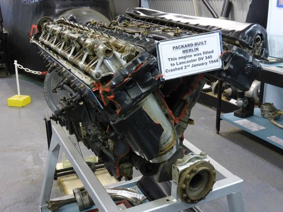Thorpe Camp Visitor Centre: Packard Merlin engine cleaned up