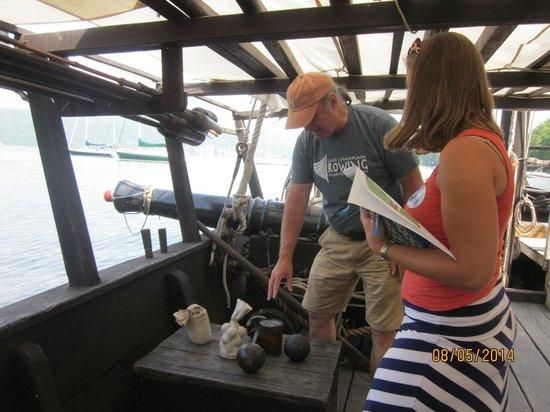 Lake Champlain Maritime Museum: Tour of Benedict Arndold's Gunboat