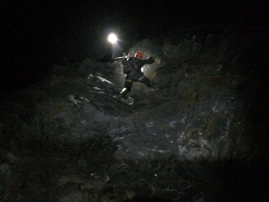 Go Below Underground Adventures: Traverse rock climbing