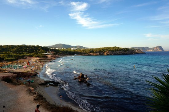 Fiesta Hotel Cala Nova: beach view from pool/terrace
