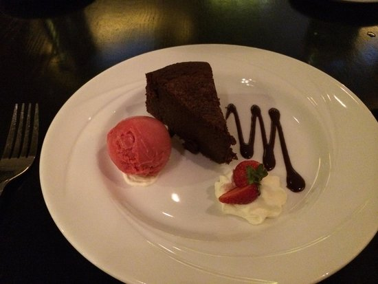 Sheraton Athlone: Flourless chocolate cake in La Provence restaurant. Good dessert.