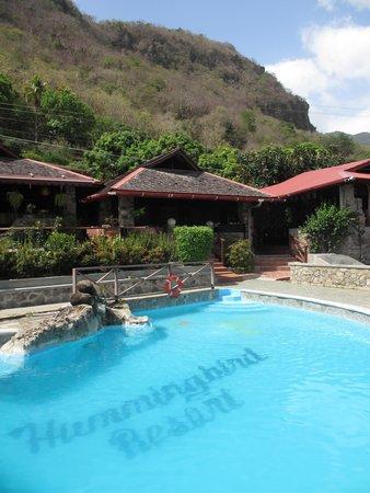 Hummingbird Beach Resort: Pool area