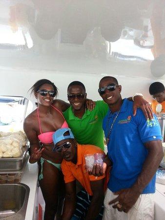 Jammin Catamaran Cruises: With the awesome crew!