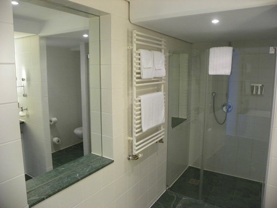 The Mandala Hotel: shower in the bathroom (tub is separate)