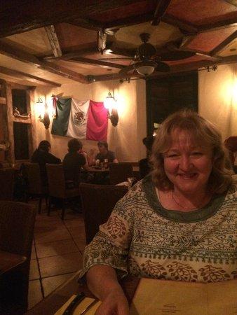 El Mosquito Bodega & Bar: My friend Helen enjoying her drink