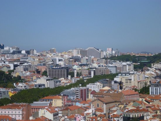 Four Seasons Hotel Ritz Lisbon: The hotel, as seen from the Sao Jorge castle