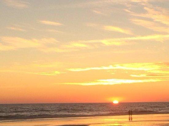 Playa de la Barrosa: Puesta de sol