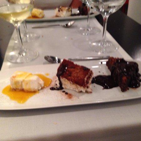 Restaurante Agape: Dessert Trio