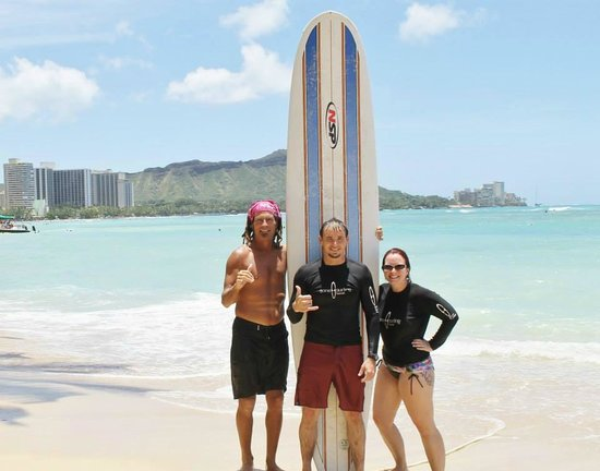 Gone Surfing Hawaii: With our instructor, Izah