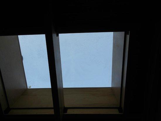 ASTROLab du parc national du Mont-Megantic : Fenêtres au-dessus des lits