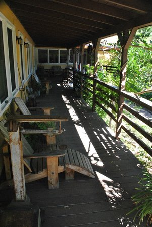 RustRidge B&B / Winery: The porch, great for escaping the heat with a glass of wine
