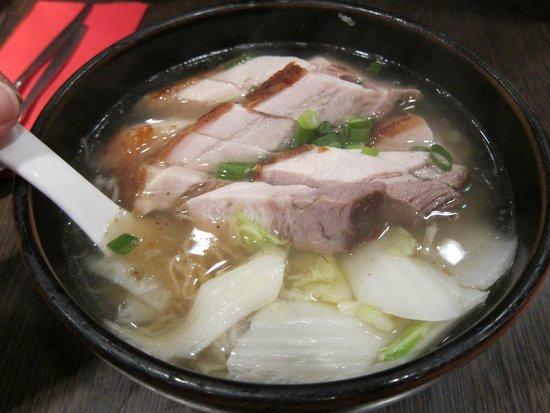 New King: Egg noodle soup with roast pork