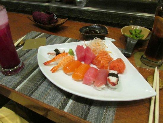 Shangri-La's Rasa Ria Resort & Spa: Sushi at the Japanese Restaurant