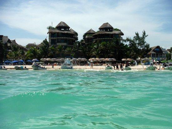 El Taj Oceanfront & Beachside Condos Hotel: El Taj view from ocean