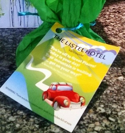 The Listel Hotel Vancouver: Listel Hotel Sweet Valet Departure Gift