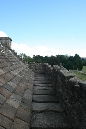 View from roof of Huntingtower Castle