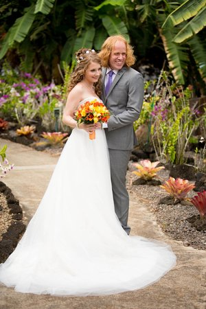 Plantation Gardens Restaurant: The bride and groom. Kelly Lemon Photography