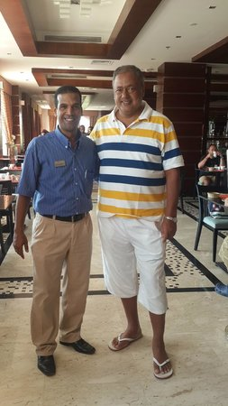 Xperience Sea Breeze Resort: Mr. Mohamed Idriss (Restaurant Manager) and I
