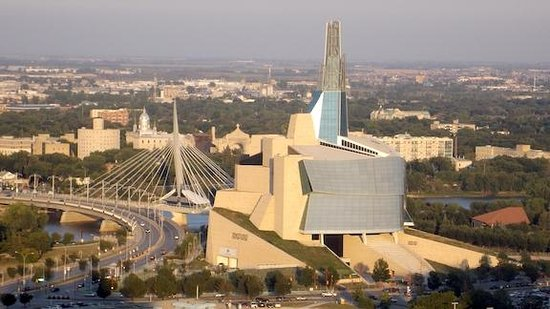 Radisson Hotel Winnipeg Downtown: stunning view of museum and area