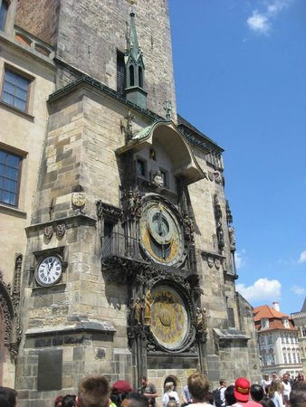 Hotel U Prince: The Astronomical Clock directly across the street