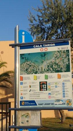 Hotel Playasol Cala Tarida: Mapa