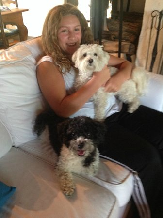 Audrey's Farmhouse Bed & Breakfast: Olivia, our doggie-sitter with our boys.