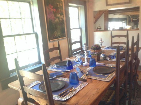 Audrey's Farmhouse Bed & Breakfast: This is where we ate our gourmet breakfast daily with new friends.