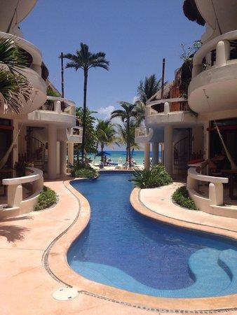 Playa Palms Beach Hotel : Vista de la alberca al Mar Caribe! Lindisimo!
