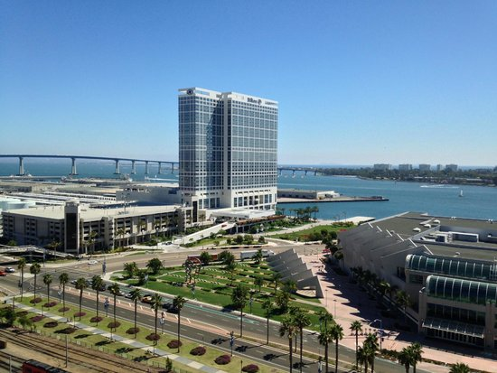 Omni San Diego Hotel : View from 18th Floor Facing W/SW