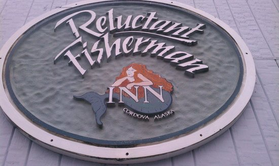Reluctant Fisherman Inn: Sign on front of building