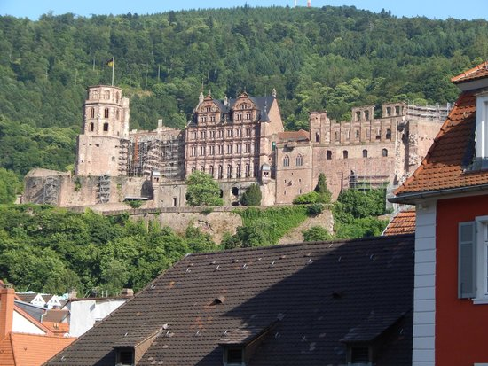 Altstadt (Old Town): View of The Heidelberg Castle